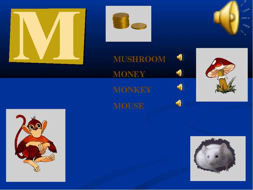 MONEY MONKEY MOUSE MUSHROOM