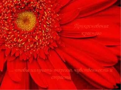 Прикосновение красного ... чтобы излучать энергию, чувственность и страсть