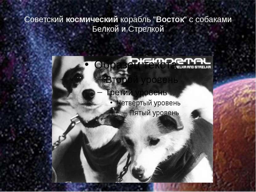 """Советский космический корабль """"Восток"""" с собаками Белкой и Стрелкой"""