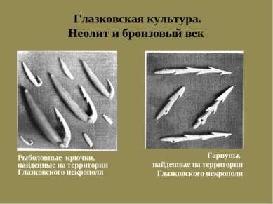 Глазковская культура. Неолит и бронзовый век Гарпуны, найденные на территории...