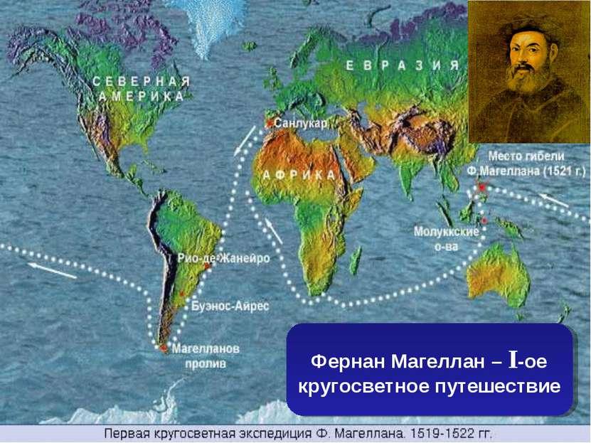 Фернан Магеллан – I-ое кругосветное путешествие