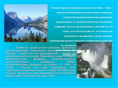 Наиболее радикальное решение проблемы предотвращения загрязнения водоемов сто...
