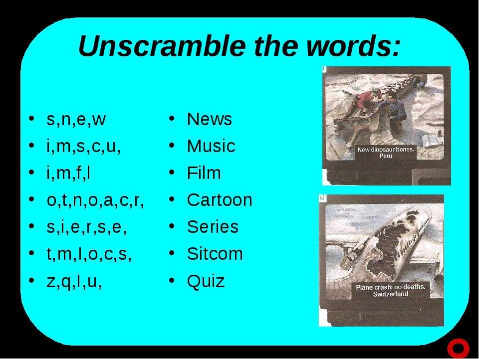 Unscramble the words: s,n,e,w i,m,s,c,u, i,m,f,l o,t,n,o,a,c,r, s,i,e,r,s,e, ...