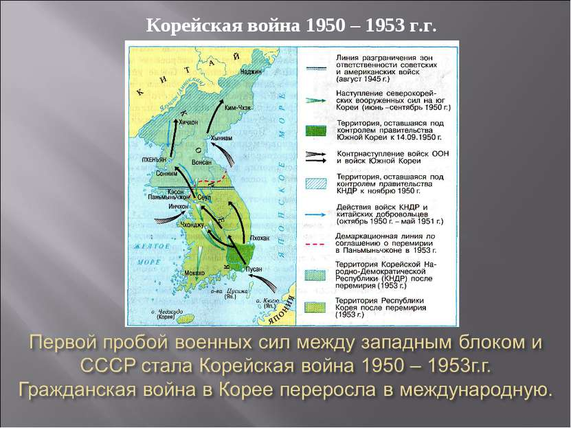 Корейская война 1950 – 1953 г.г.