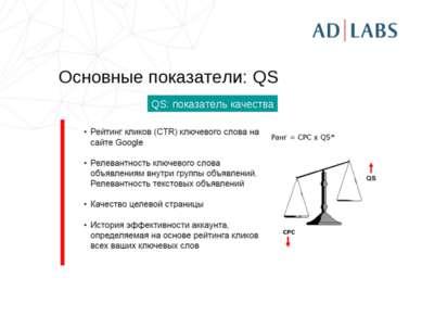 Основные показатели: QS QS: показатель качества