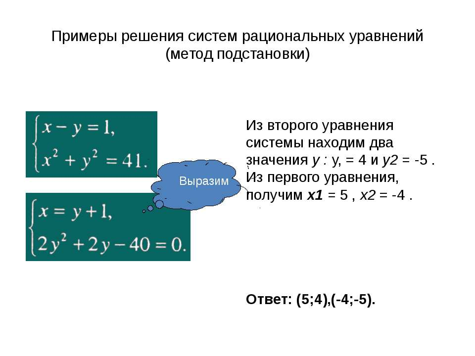 Симметрические системы уравнений Система с n неизвестными называется симметри...