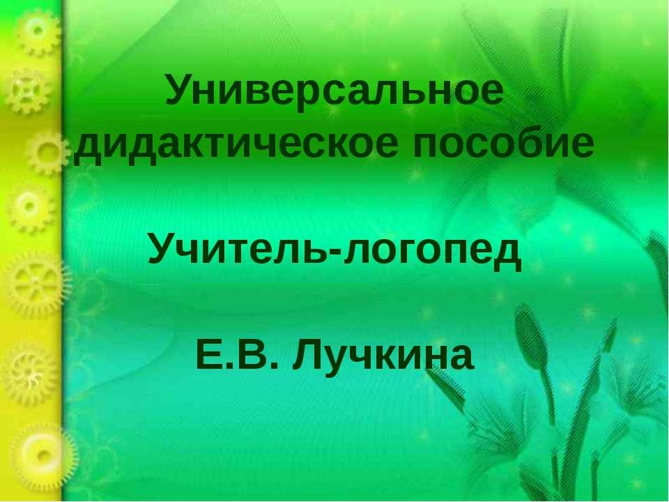 Универсальное дидактическое пособие Учитель-логопед Е.В. Лучкина