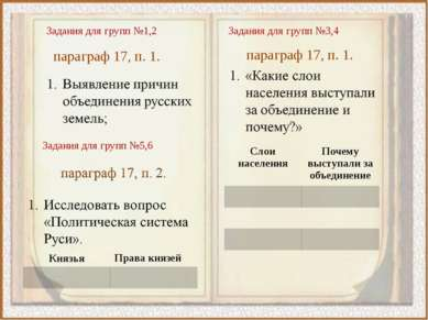 Задания для групп №1,2 параграф 17, п. 1. Задания для групп №3,4 параграф 17,...