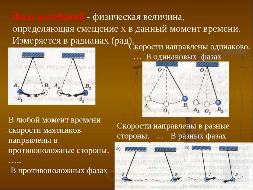 Фаза колебаний - физическая величина, определяющая смещение x в данный момент...