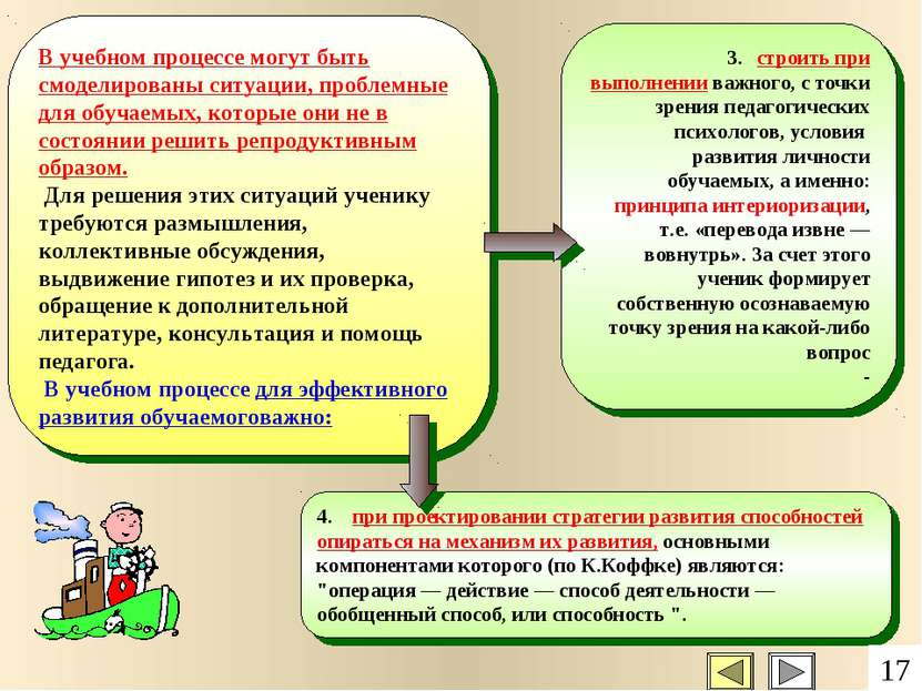 3. строить при выполнении важного, с точки зрения педагогических психологов, ...