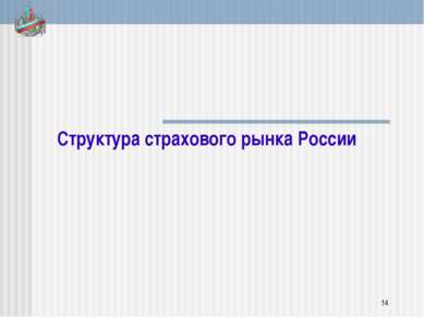Структура страхового рынка России