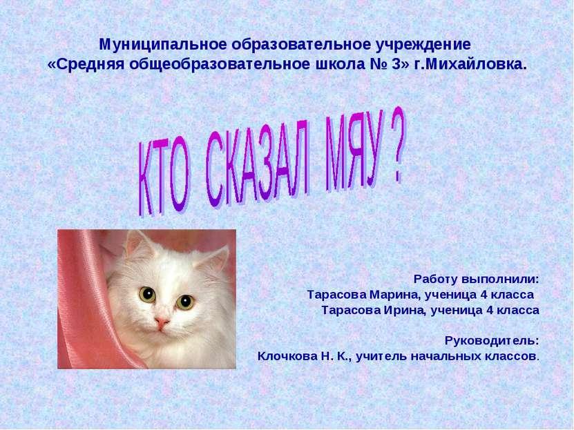 Муниципальное образовательное учреждение «Средняя общеобразовательное школа №...
