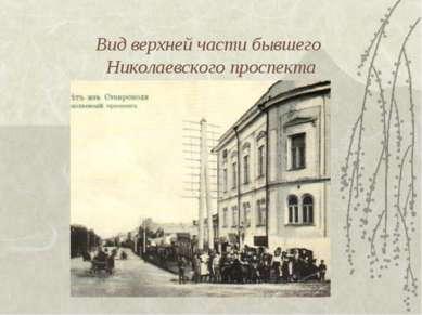 Вид верхней части бывшего Николаевского проспекта