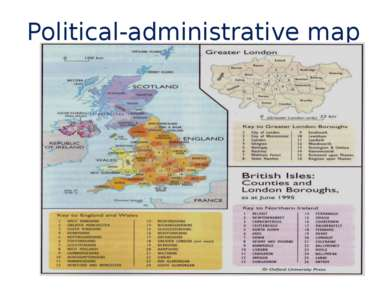 Political-administrative map