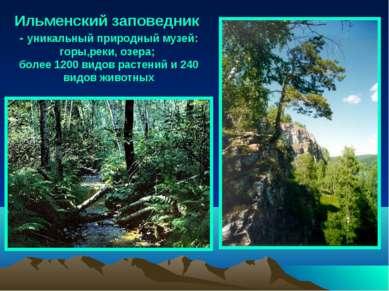 Ильменский заповедник - уникальный природный музей: горы,реки, озера; более 1...