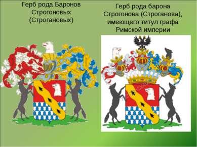 Герб рода барона Строгонова (Строганова), имеющего титул графа Римской импери...
