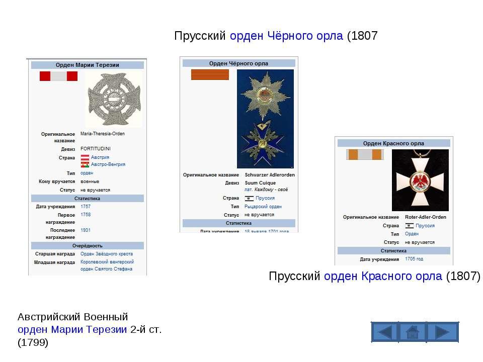 Прусский орден Красного орла (1807) Прусский орден Чёрного орла (1807 Австрий...
