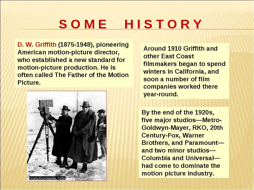 D. W. Griffith (1875-1948), pioneering American motion-picture director, who ...