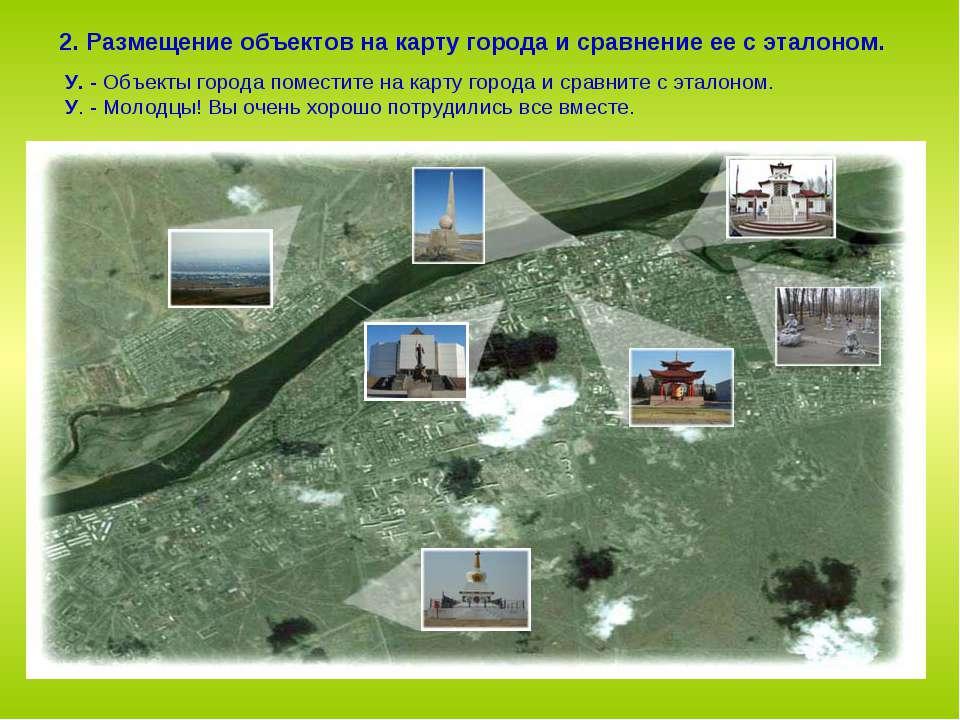 2. Размещение объектов на карту города и сравнение ее с эталоном. У. - Объект...