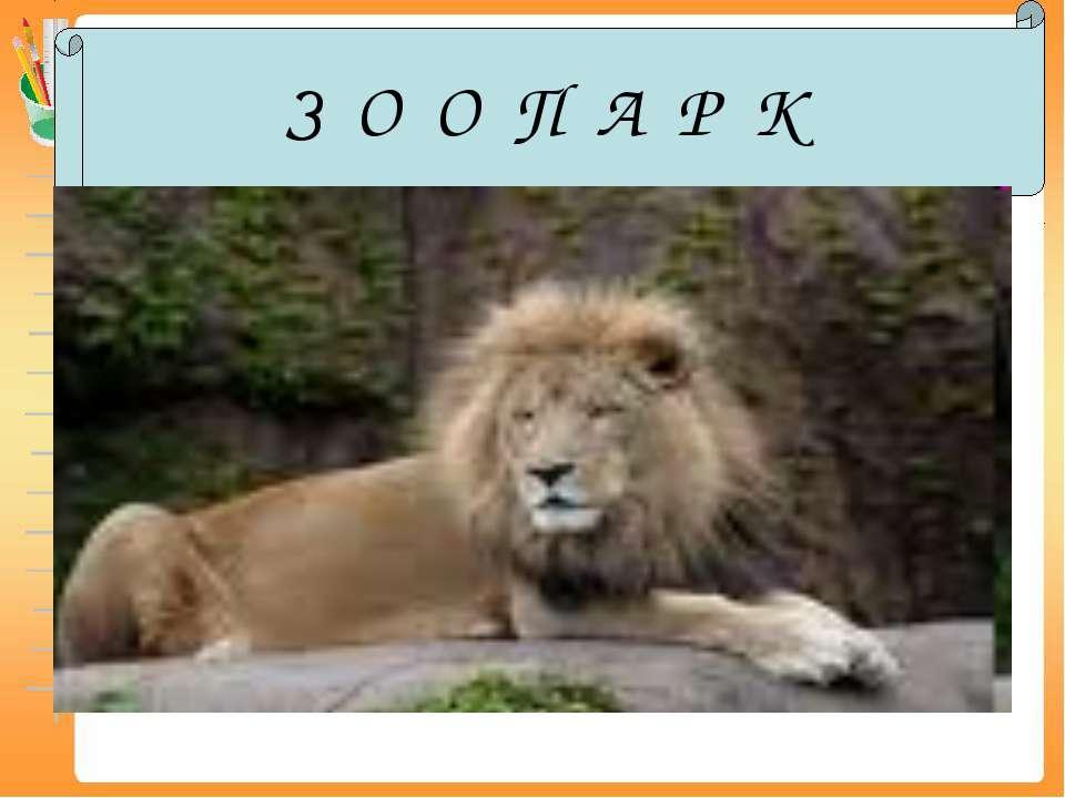 З О О П А Р К