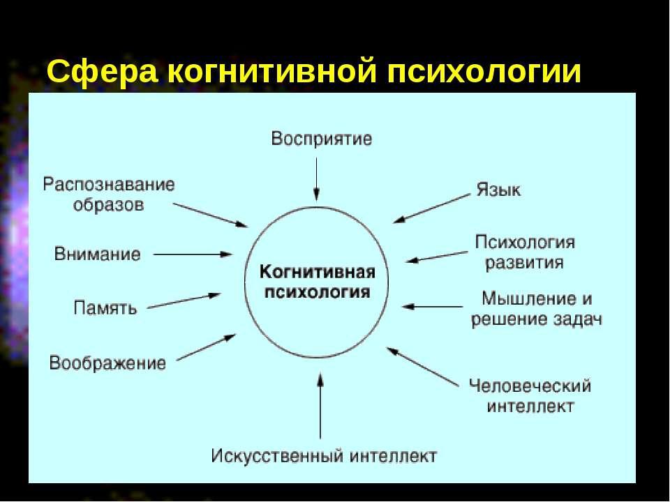 Сфера когнитивной психологии