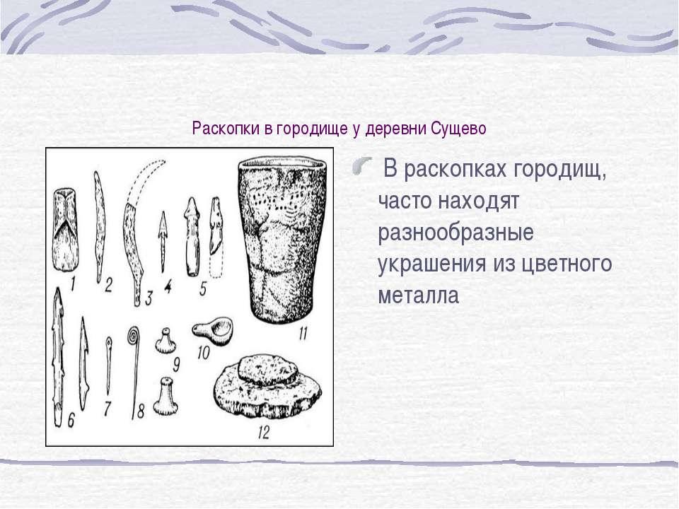 Раскопки в городище у деревни Сущево В раскопках городищ, часто находят разно...