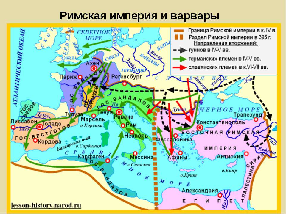 Римская империя и варвары