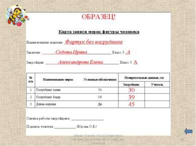* Автор: Юрова Ольга Борисовна учитель технологии МОУ СОШ №2 г.Ворсма Автор: ...