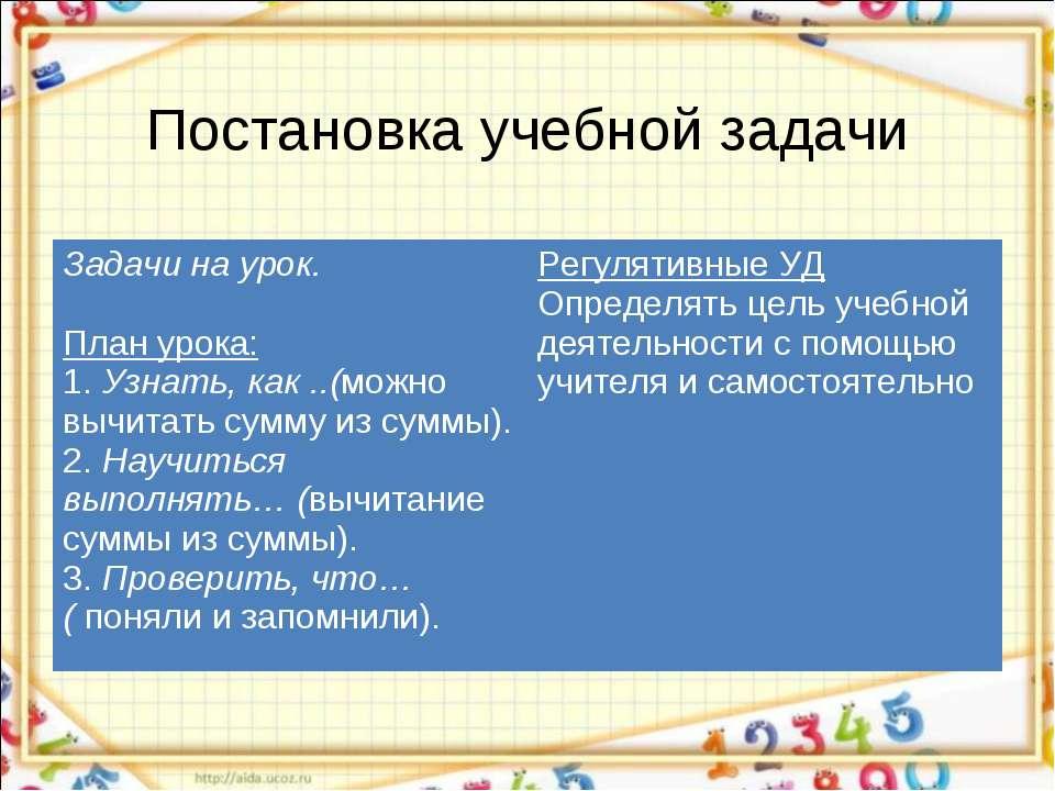 Постановка учебной задачи Задачи на урок. План урока: 1. Узнать, как ..(можно...