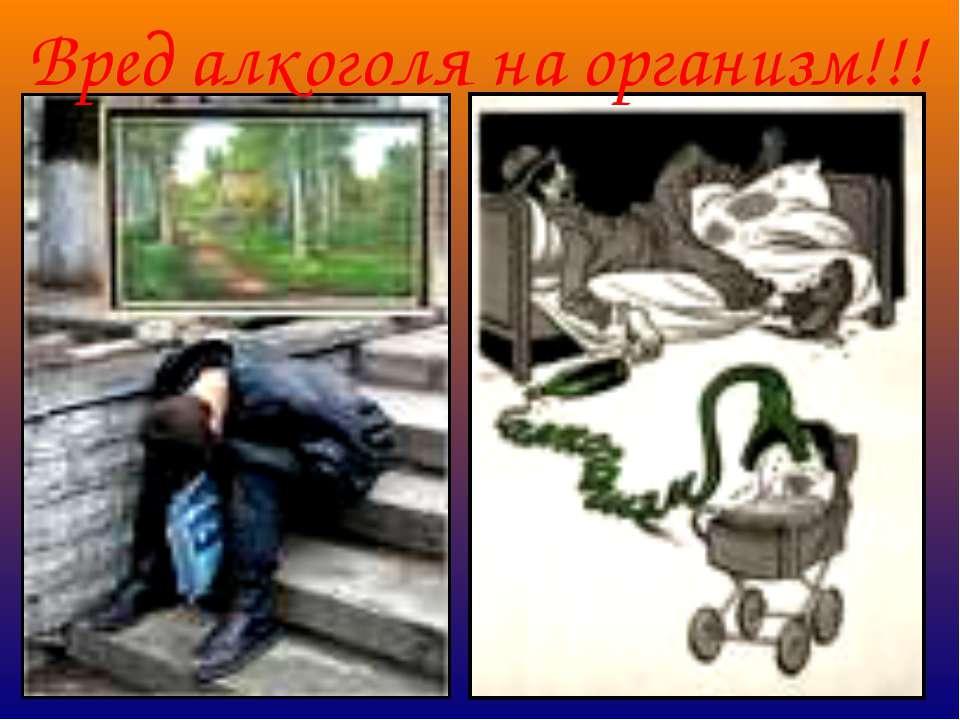 Вред алкоголя на организм!!!