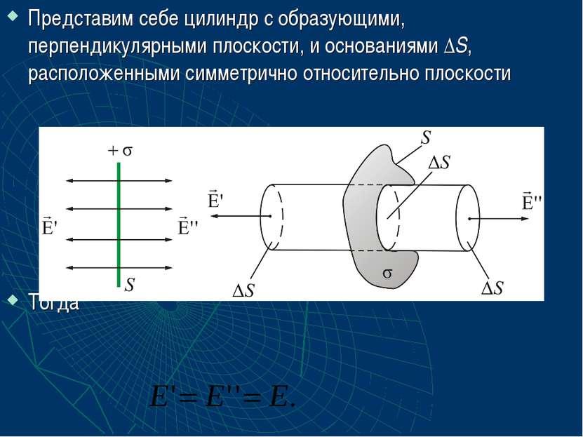 Представим себе цилиндр с образующими, перпендикулярными плоскости, и основан...