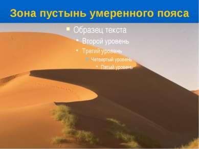 Зона пустынь умеренного пояса По направлению к экватору летняя жара усиливает...