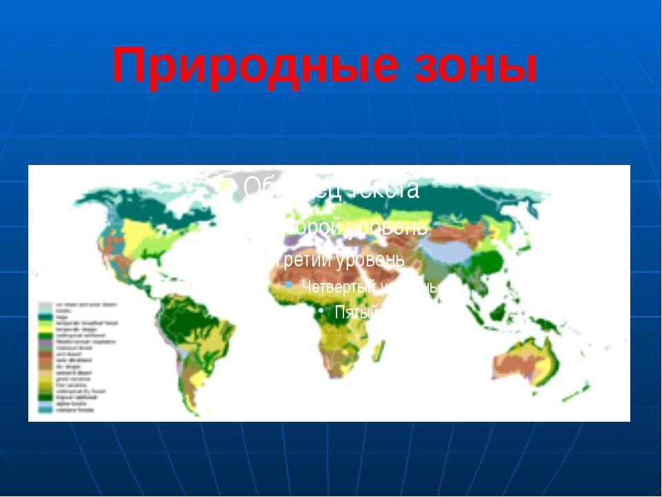 Природные зоны Последовательность природных зон сходна на на различных матери...