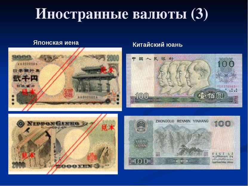 Глава 5. Экономика мира 33. Обменные курсы валют Японская иена Китайский юань...
