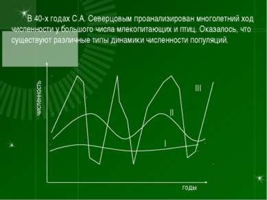 В 40-х годах С.А. Северцовым проанализирован многолетний ход численности у бо...