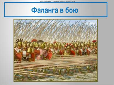 Фаланга в бою МОУ СОШ №3 Г.Лангепас ХМАО ,Урунова Н.М