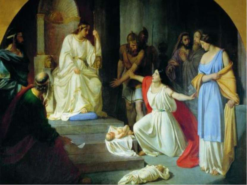 Женщины просили Соломона решить вопрос, чьим же сыном является ребенок. «И ск...