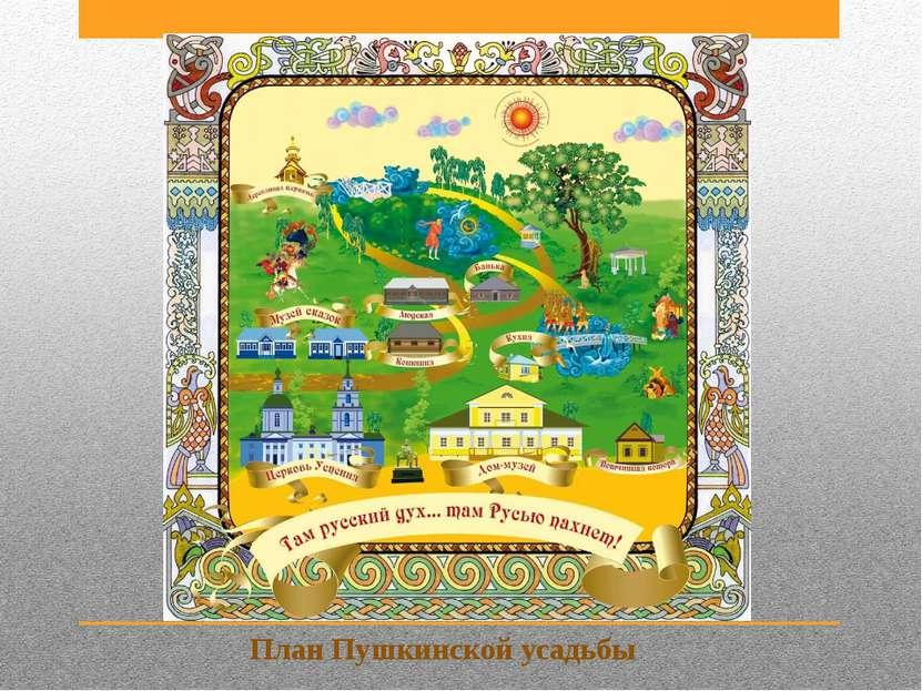 План Пушкинской усадьбы