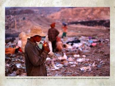 Мусорная свалка в Сиемреапе Из 14-миллионного населения Камбоджи 36% живут за...