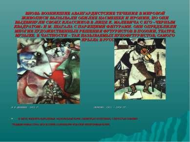 ВНОВЬ ВОЗНИКШИЕ АВАНГАРДИСТСКИЕ ТЕЧЕНИЯ В МИРОВОЙ ЖИВОПИСИ ВЫЗЫВАЛИ ОБИЛИЕ НА...