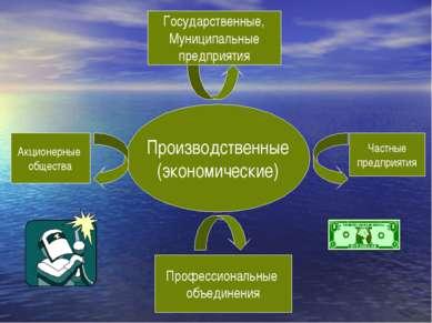 Производственные (экономические) Акционерные общества Государственные, Муници...
