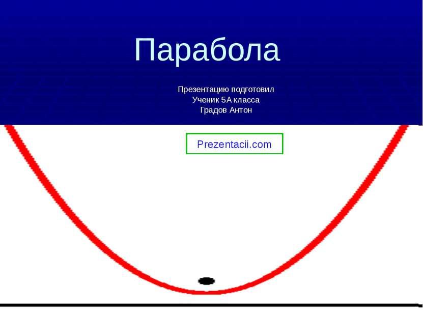 Парабола Презентацию подготовил Ученик 5А класса Градов Антон Prezentacii.com