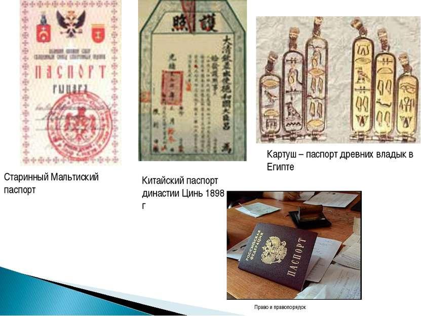 Картуш – паспорт древних владык в Египте Старинный Мальтиский паспорт Китайск...