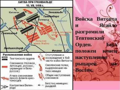 Войска Витовта и Ягайло разгромили Тевтонский Орден. Был положен конец наступ...