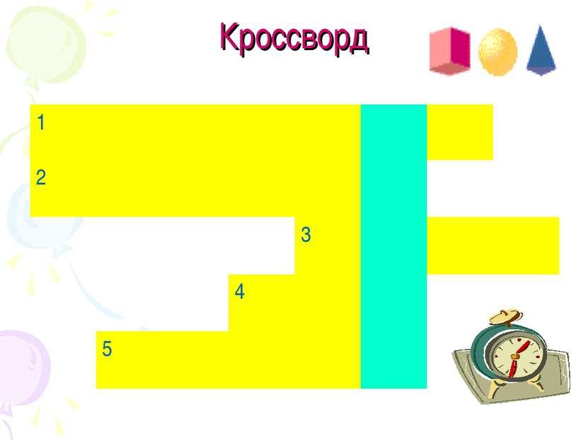 Кроссворд 1 2 3 4 5
