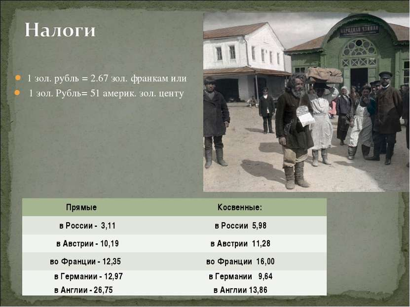 1 зол. рубль = 2.67 зол. франкам или 1 зол. Рубль= 51 америк. зол. центу Прям...