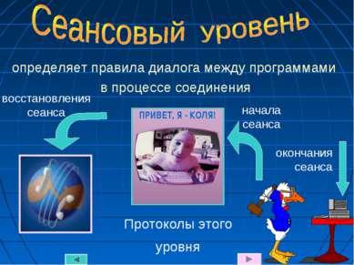 определяет правила диалога между программами в процессе соединения Протоколы ...