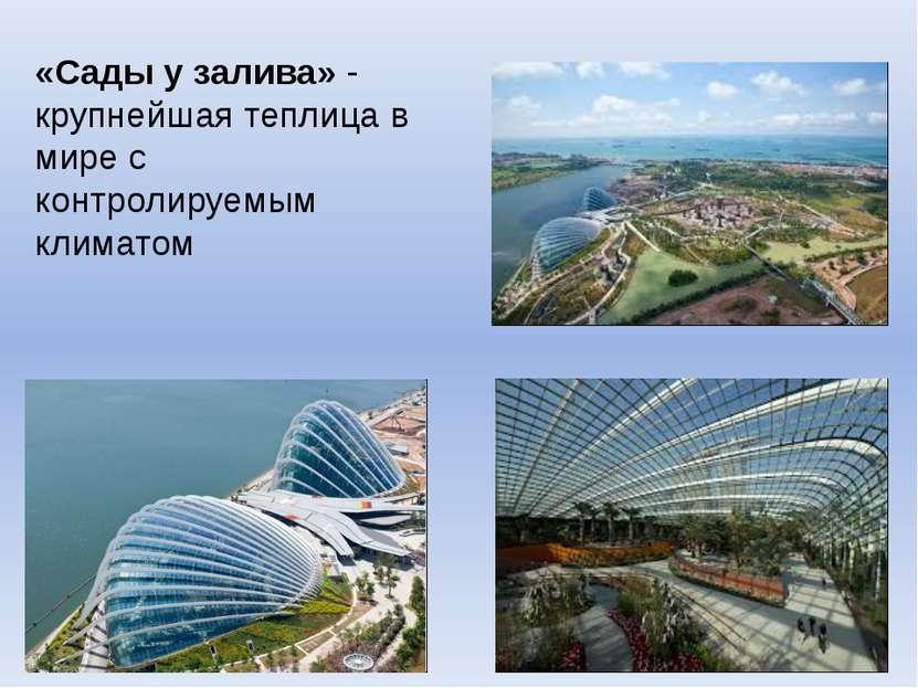 «Сады у залива» - крупнейшая теплица в мире с контролируемым климатом