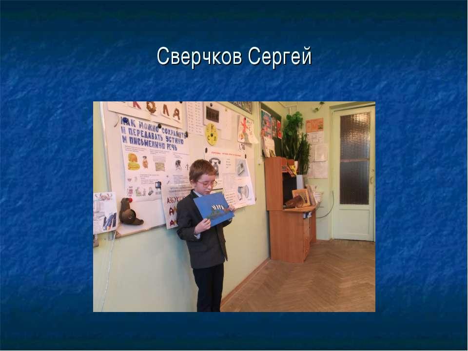 Сверчков Сергей