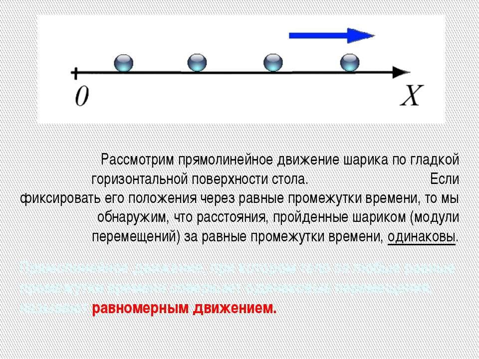 Прямолинейное движение, при котором тело за любые равные промежутки времени с...